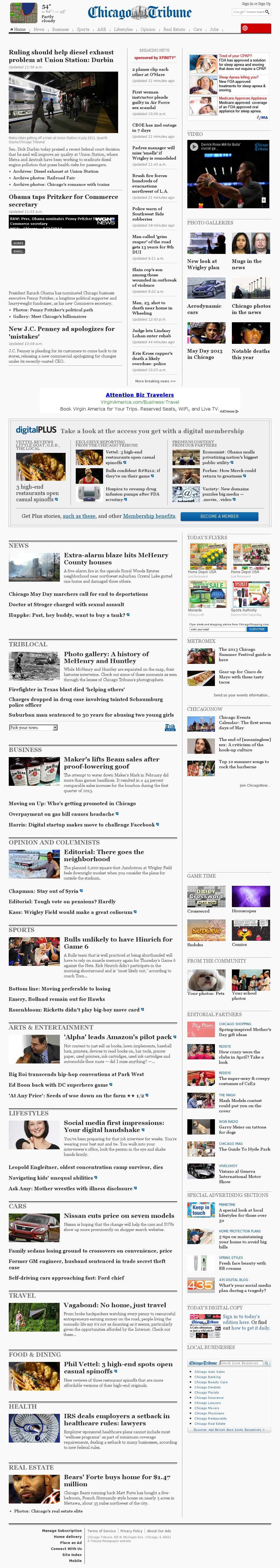 Chicago Tribune at Thursday May 2, 2013, 6:04 p.m. UTC