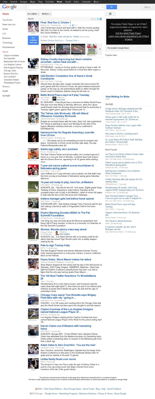Google News: Sports at Monday April 8, 2013, 9:09 p.m. UTC