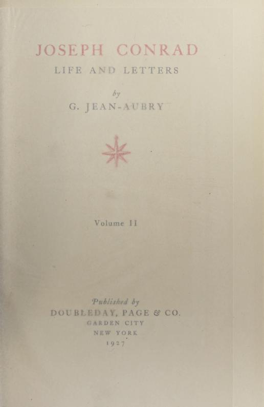 Joseph Conrad by Joseph Conrad
