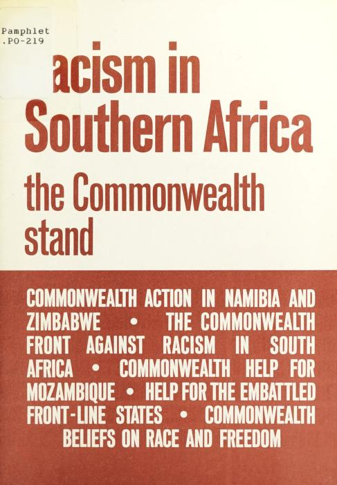 Racism in Southern Africa: The Commonwealth Stand by Commonwealth Secretariat