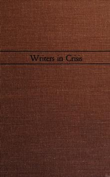 Cover of: Writers in crisis | Maxwell David Geismar